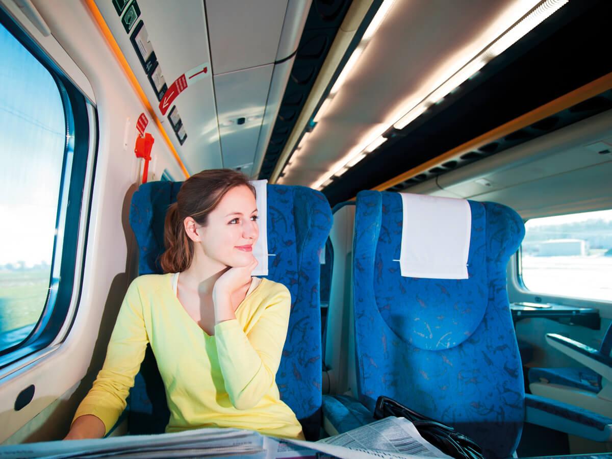 A bright train